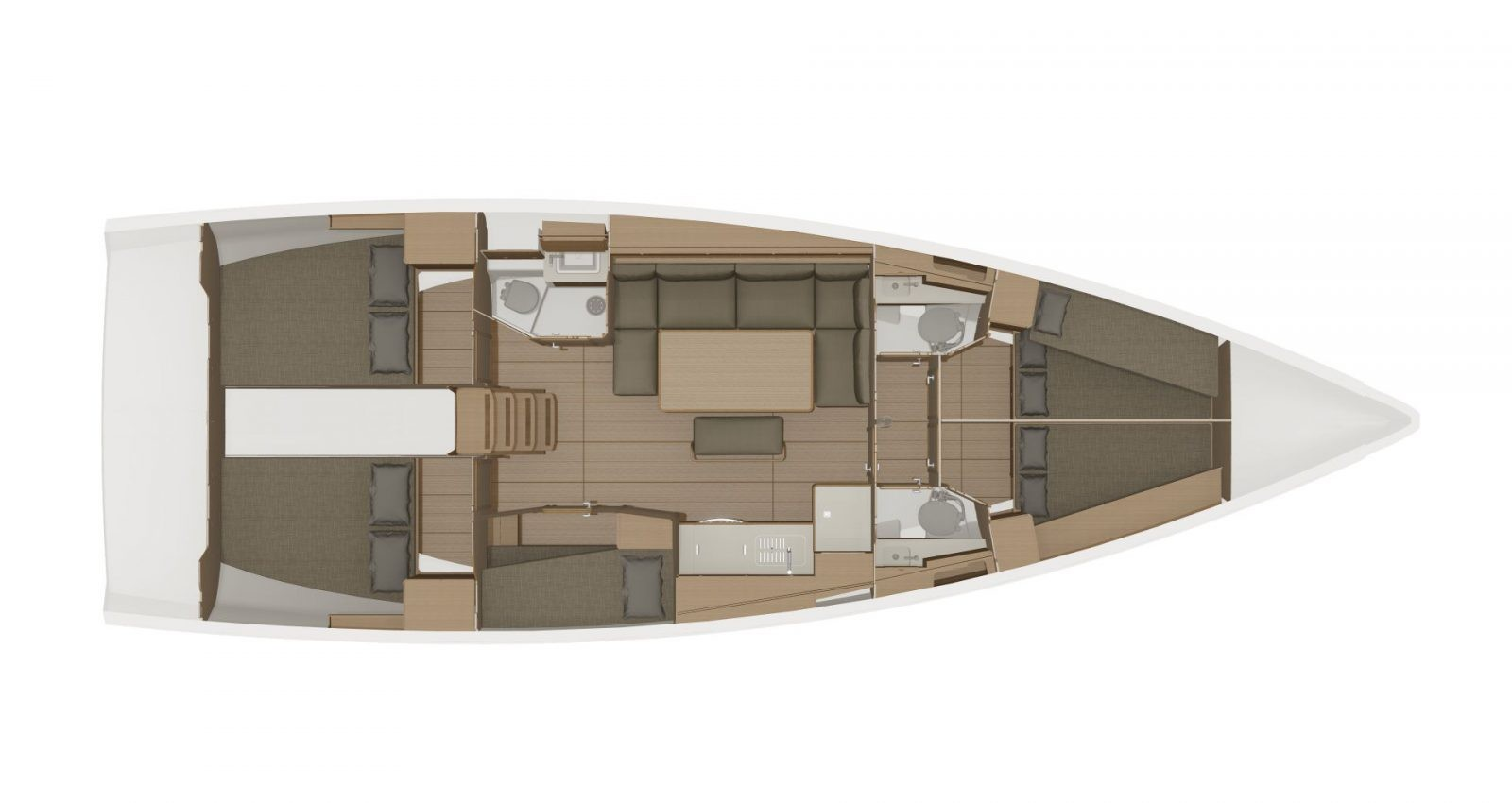 Dufour 460 GL Layout 4